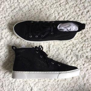 1.State Dulcia Laser Cut Leather Sneaker, Black, 8